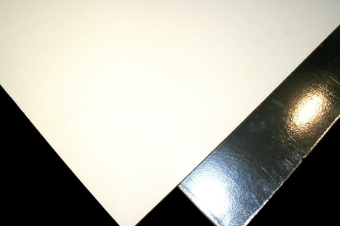 White Vinyl Faced Silver Foil Backed Wipeable Ceiling Tile