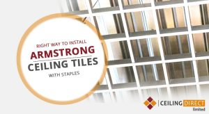 The Right Way to Install Armstrong Ceiling Tiles With Staples