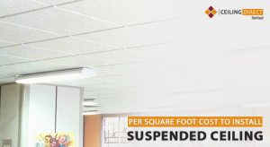 What is the per square foot cost to install suspended ceiling